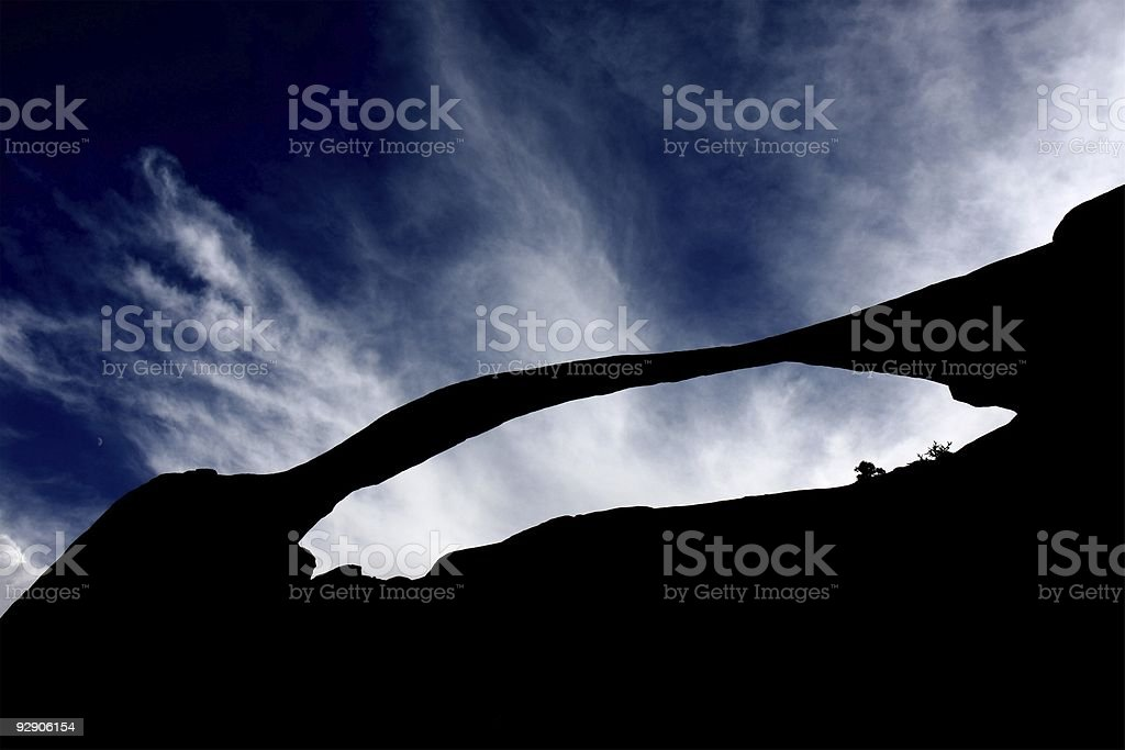 natural arch stock photo