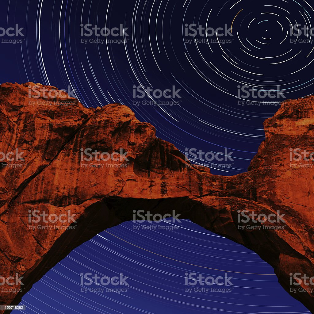 XXXL natural arch with stars royalty-free stock photo