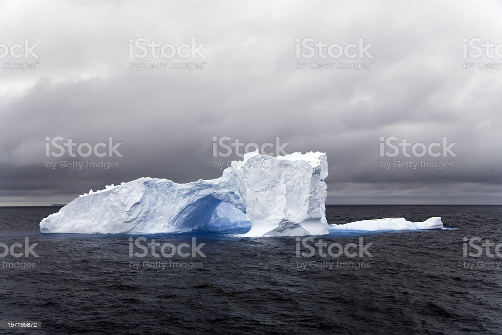 Natural Archway Iceberg Antarctica royalty-free stock photo