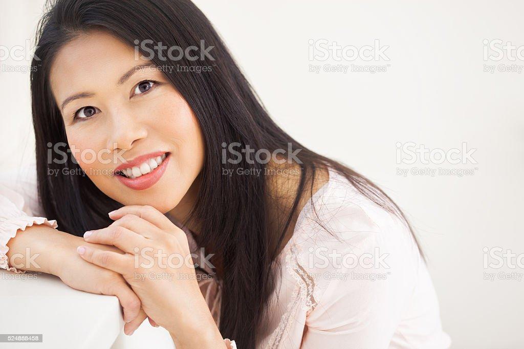 Natural Asian Woman stock photo