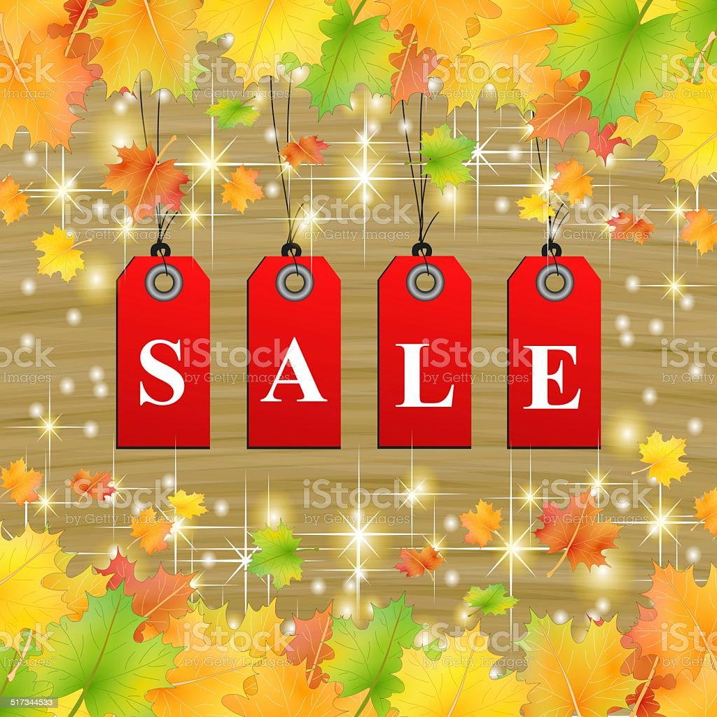 natural autumn leafs sale stock photo