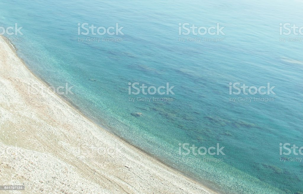 Natural background in minimalism style with water and sand seascape stock photo