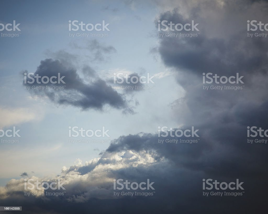 Natural background: stormy sky royalty-free stock photo
