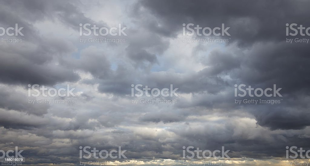 Natural background: stormy sky stock photo