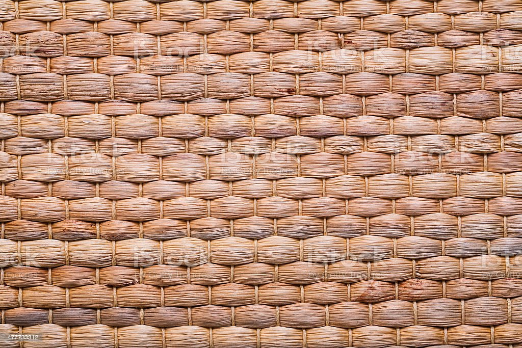 natural bast wickered texture of mat stock photo