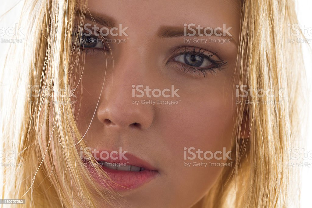 Natural Beautiful Young Girl royalty-free stock photo
