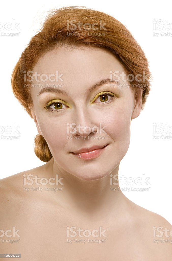natural beauty an adult woman happy with her skin stock photo
