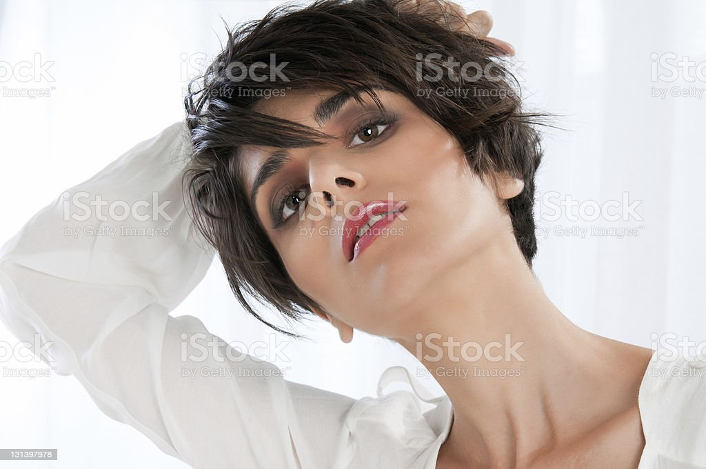 Natural beauty and fashion woman royalty-free stock photo
