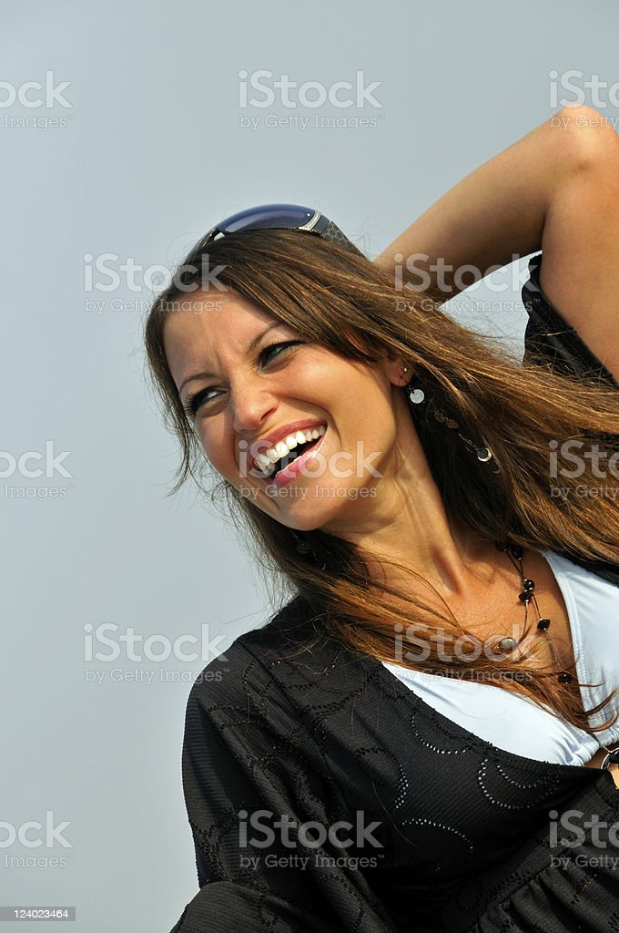 Natural Beauty Candid Portrait royalty-free stock photo