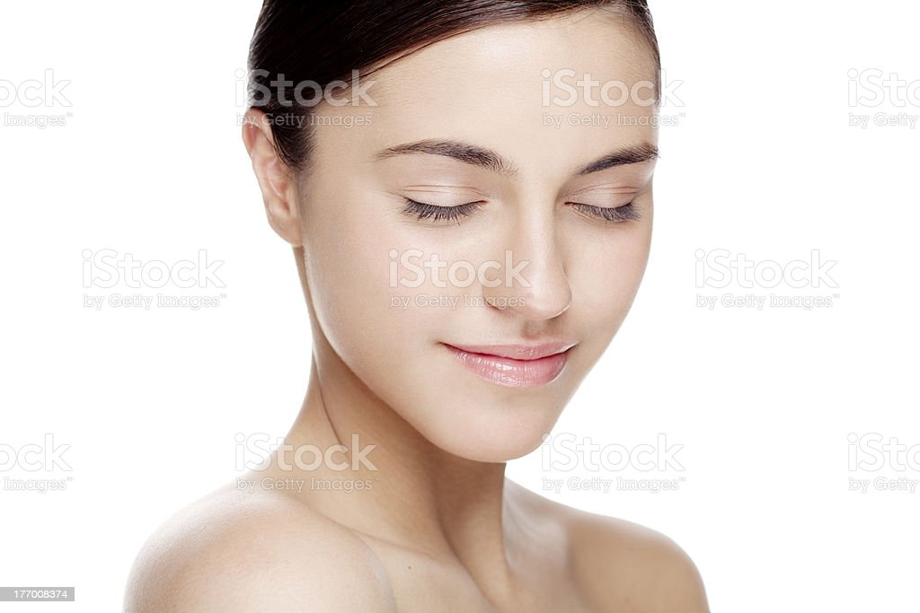 natural beauty face stock photo