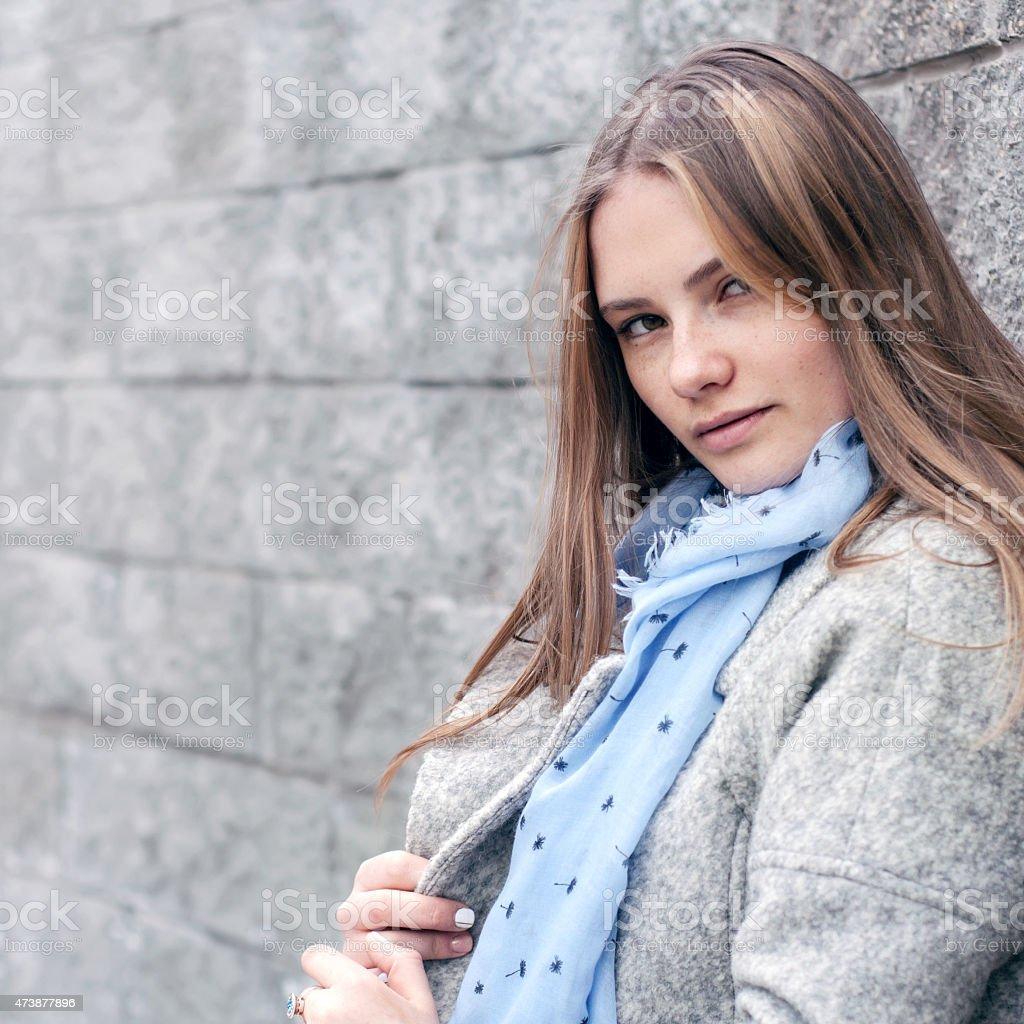 Chica de Belleza Natural; Primer plano foto de stock libre de derechos