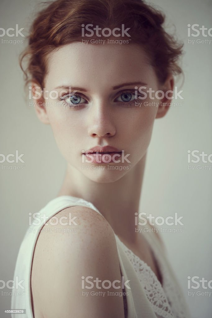 Natural beauty girl stock photo
