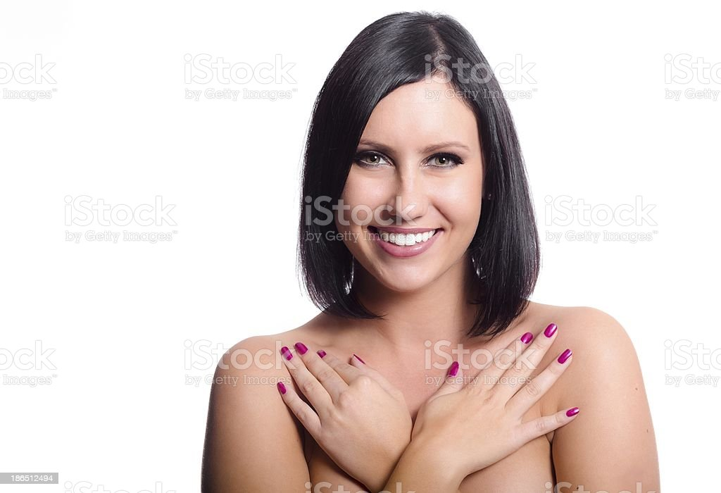 Natural Beauty of a young woman royalty-free stock photo