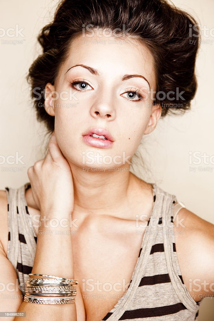 Natural Beauty Portrait royalty-free stock photo