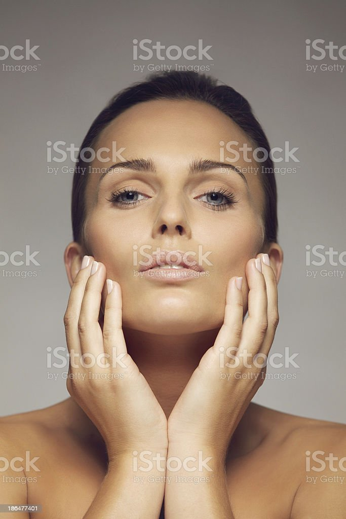 Natural beauty with beautiful skin royalty-free stock photo