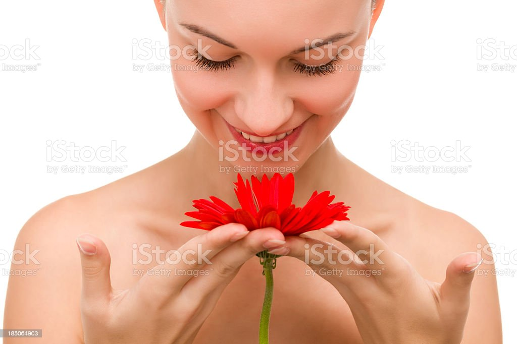 Natural beauty with the daisy royalty-free stock photo