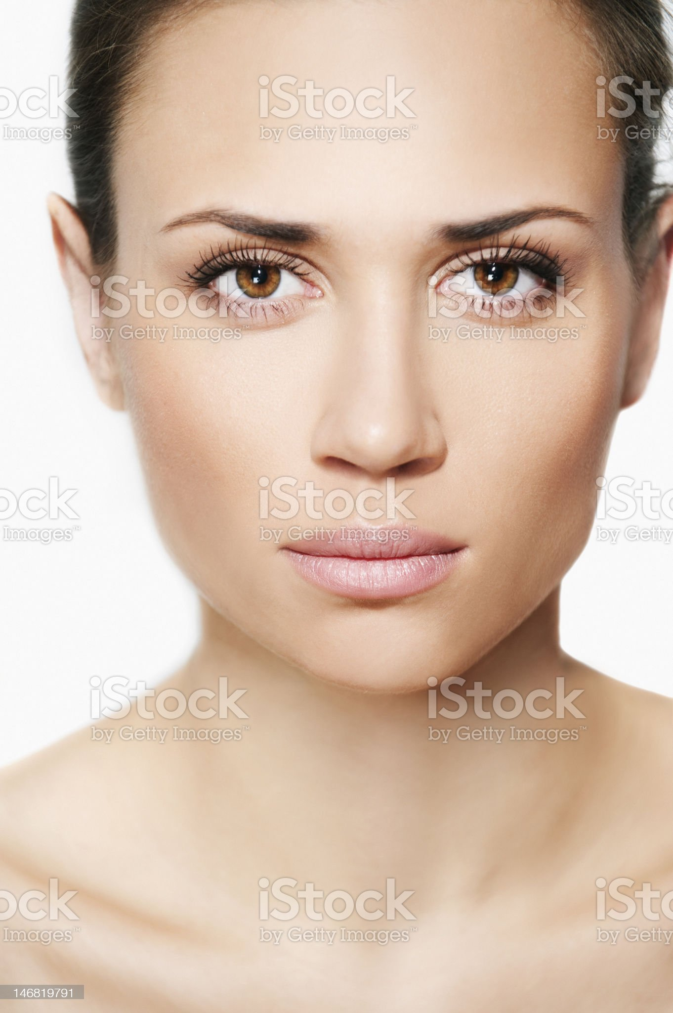 Natural beauty women portrait in white background royalty-free stock photo
