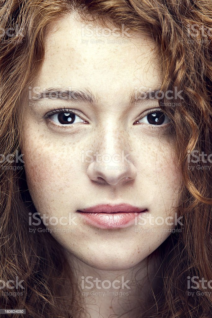 Natural Beauty Young Woman stock photo