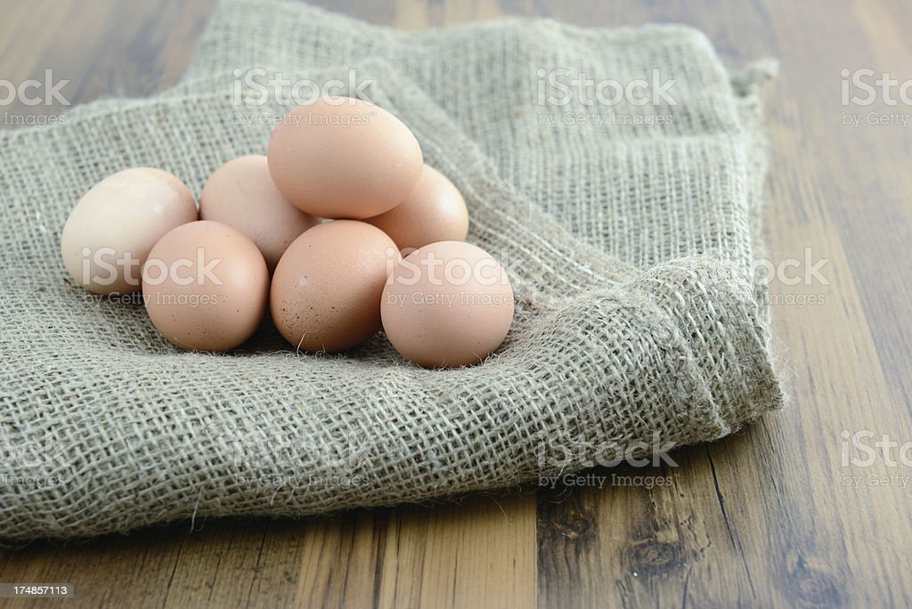 natural beige eggs royalty-free stock photo