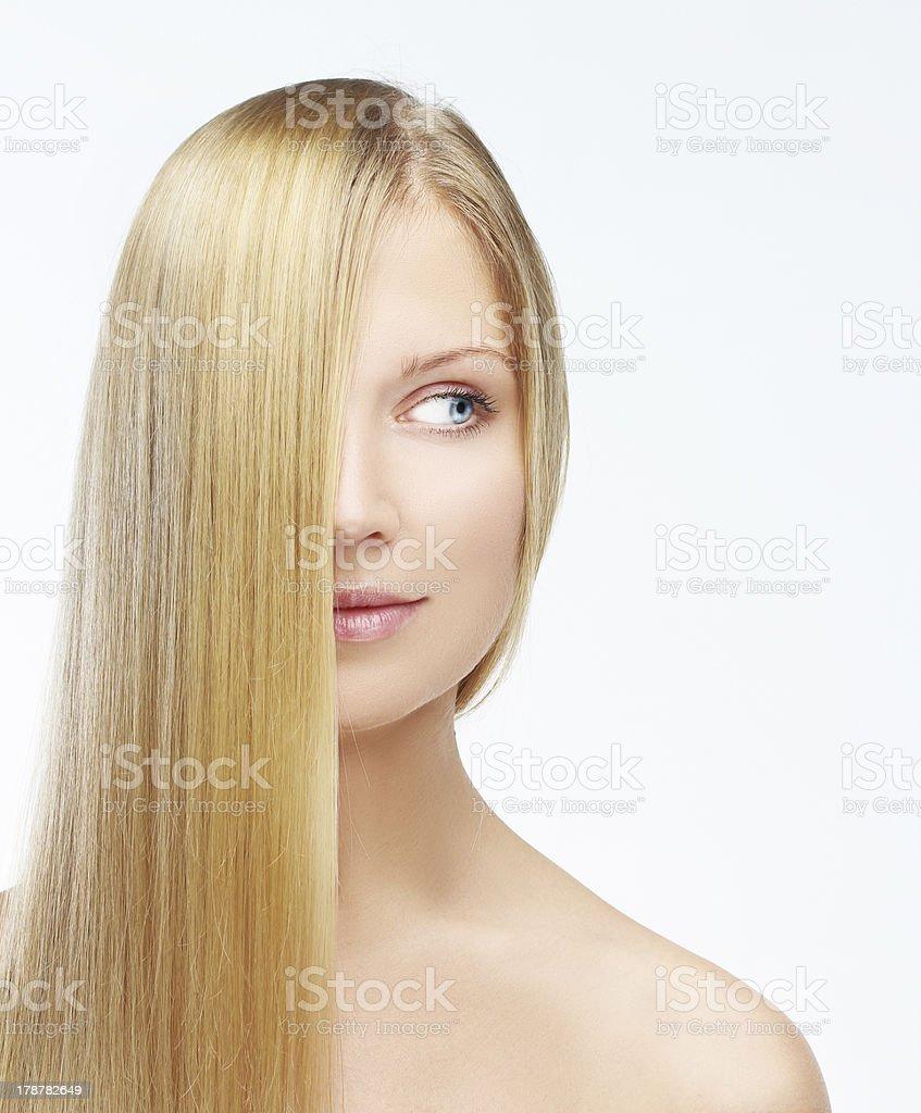 Natural blonde stock photo