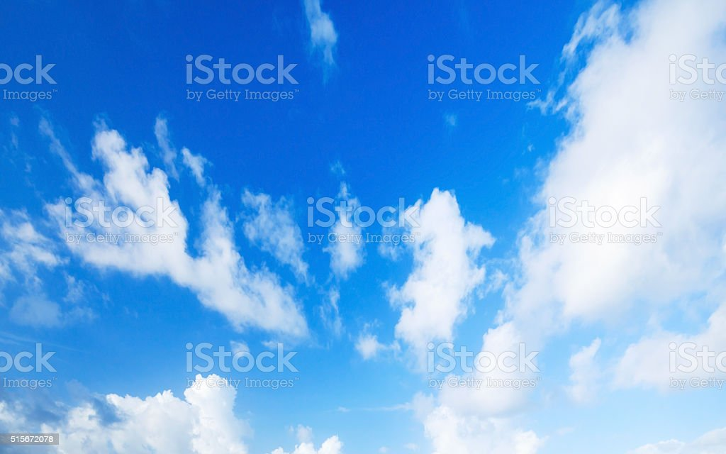 Natural blue cloudy sky. Background photo stock photo