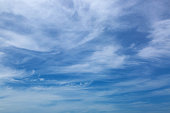 Natural blue sky with Cirrus, high level Clouds