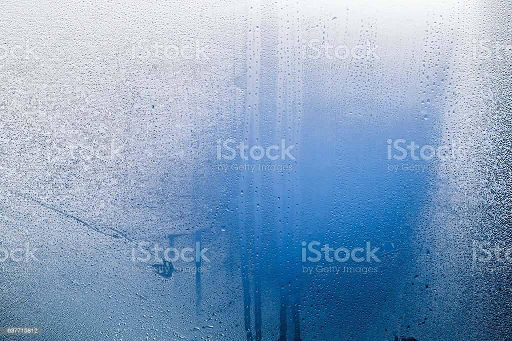 Natural blue water drop background stock photo