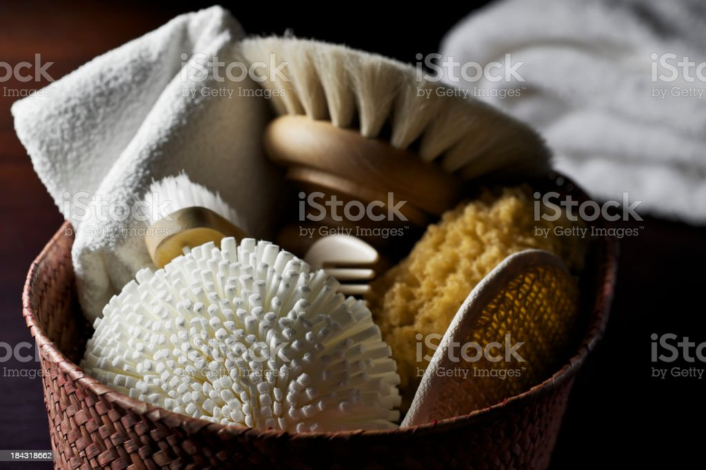 Natural Body Care Items royalty-free stock photo