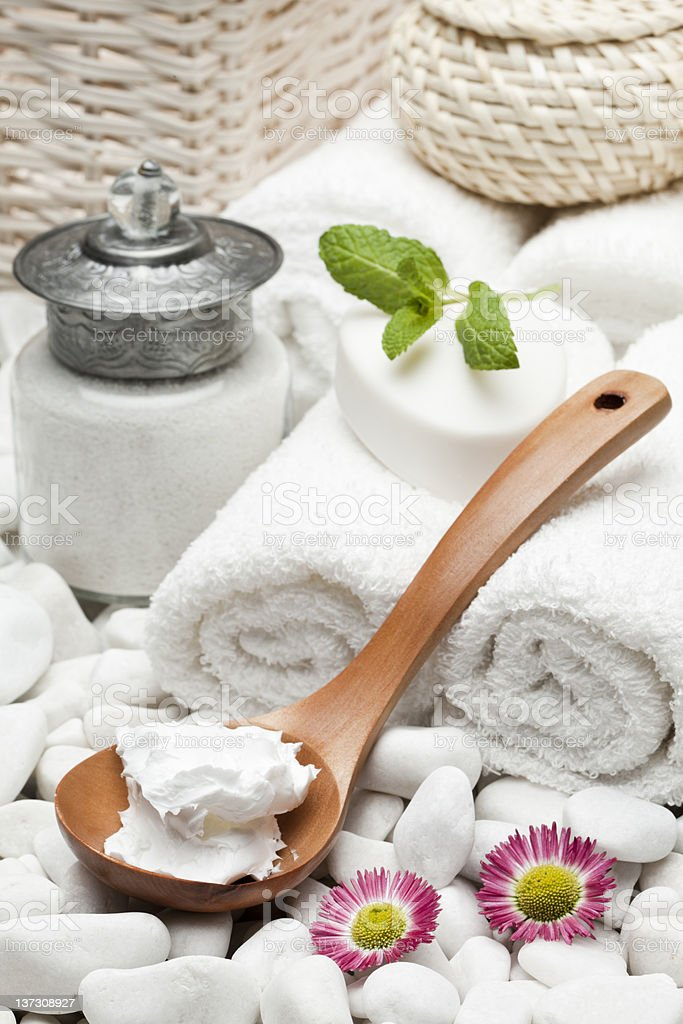 natural body care moisturizer cream royalty-free stock photo