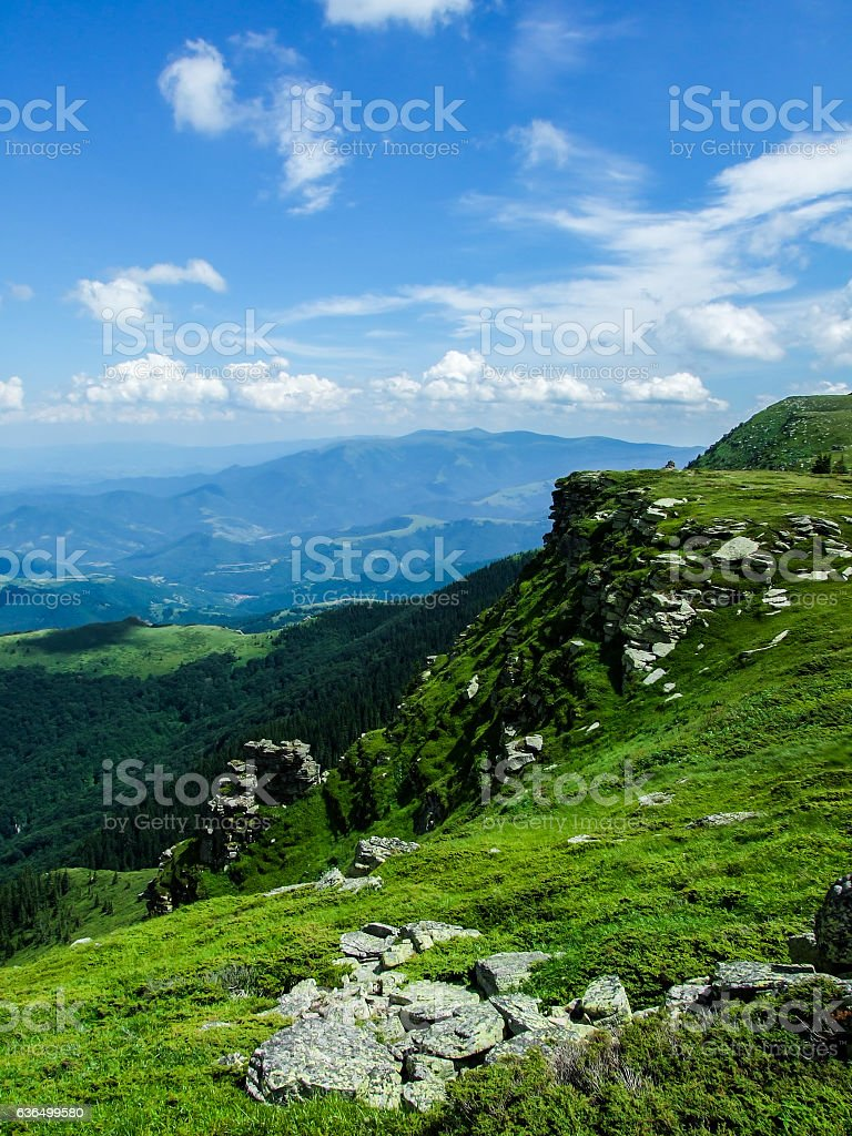 Natural border in the Balkans stock photo