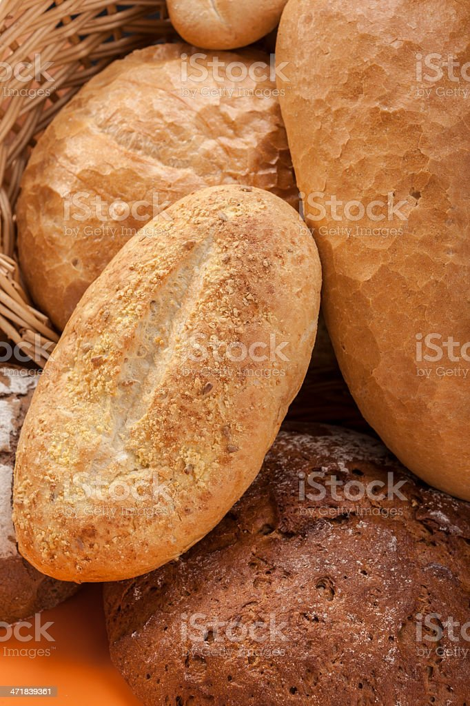 Natural Bread Vertcal royalty-free stock photo