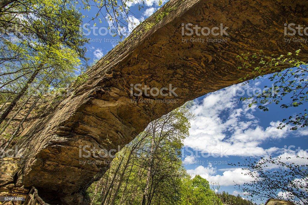 Natural Bridge Arch In Kentucky stock photo