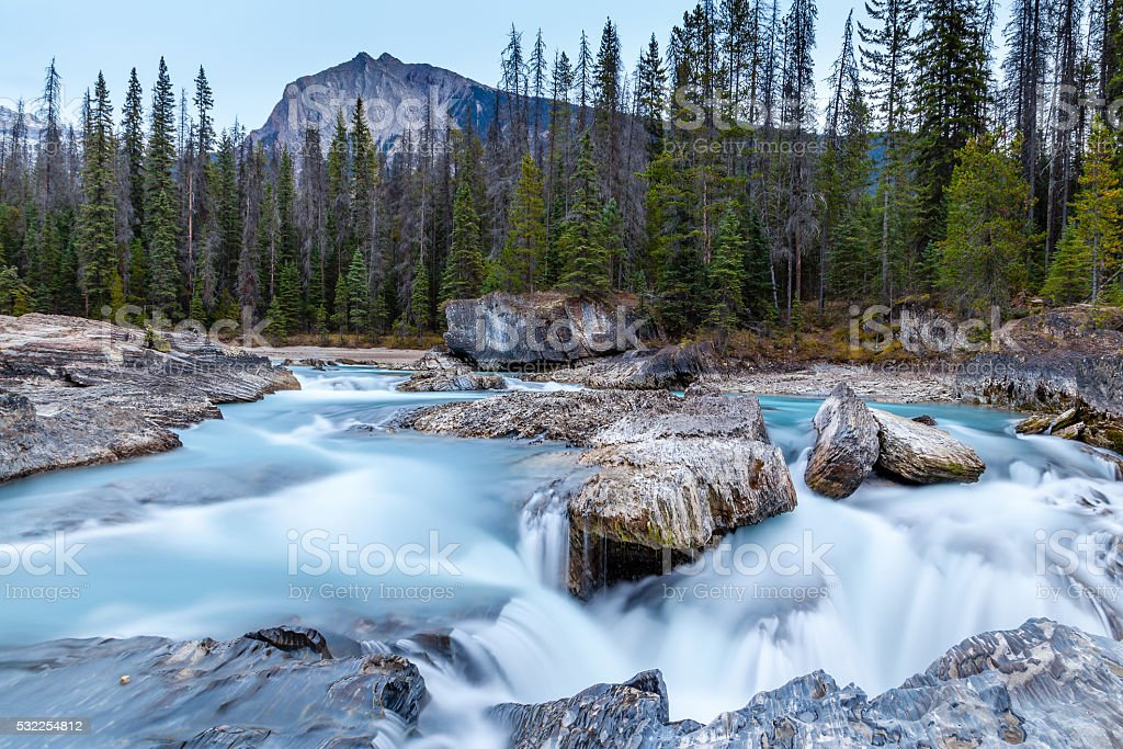 Natural Bridge at Yoho National Park in British Columbia stock photo
