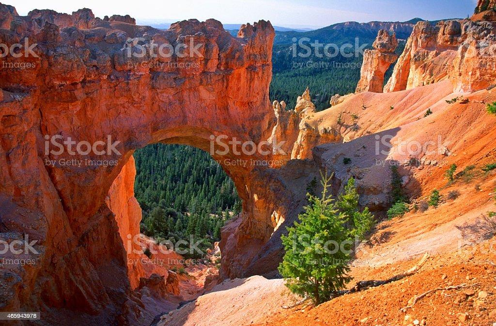 Natural Bridge in Bryce Canyon stock photo