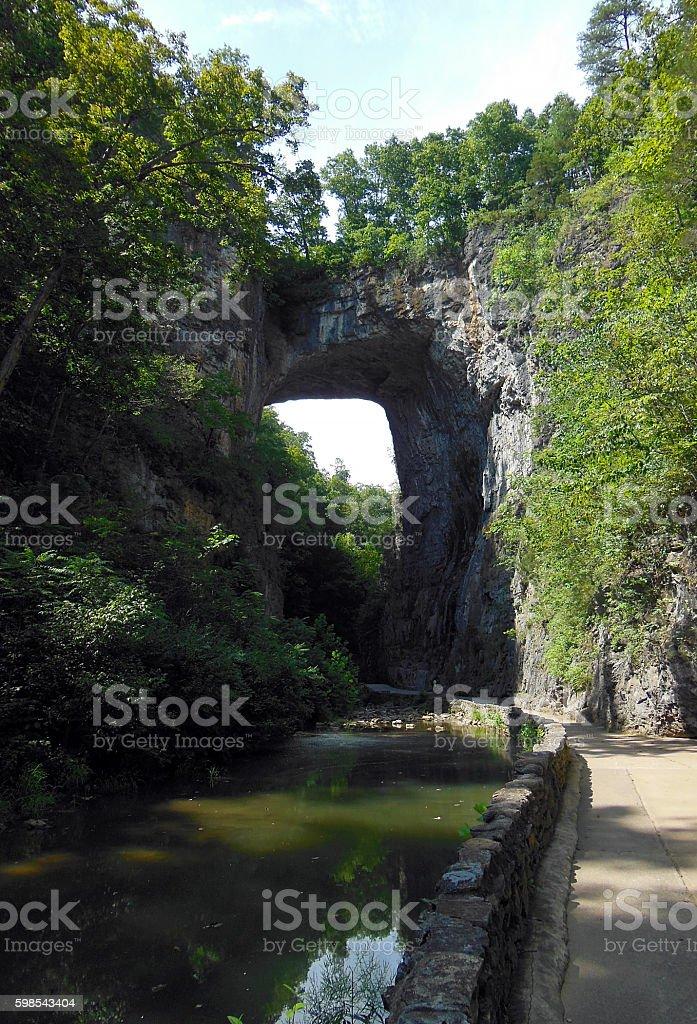 Natural Bridge Park stock photo
