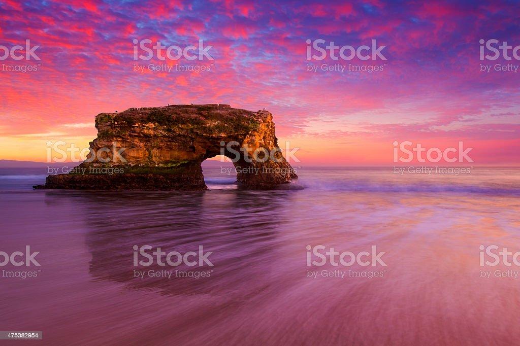 Natural Bridge Sunrise stock photo