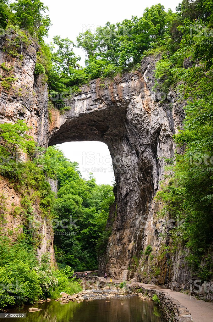 Natural Bridge, Virginia stock photo