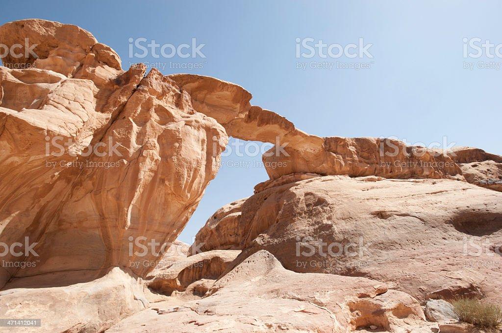 Natural Bridge, Wadi Rum. Jordan royalty-free stock photo