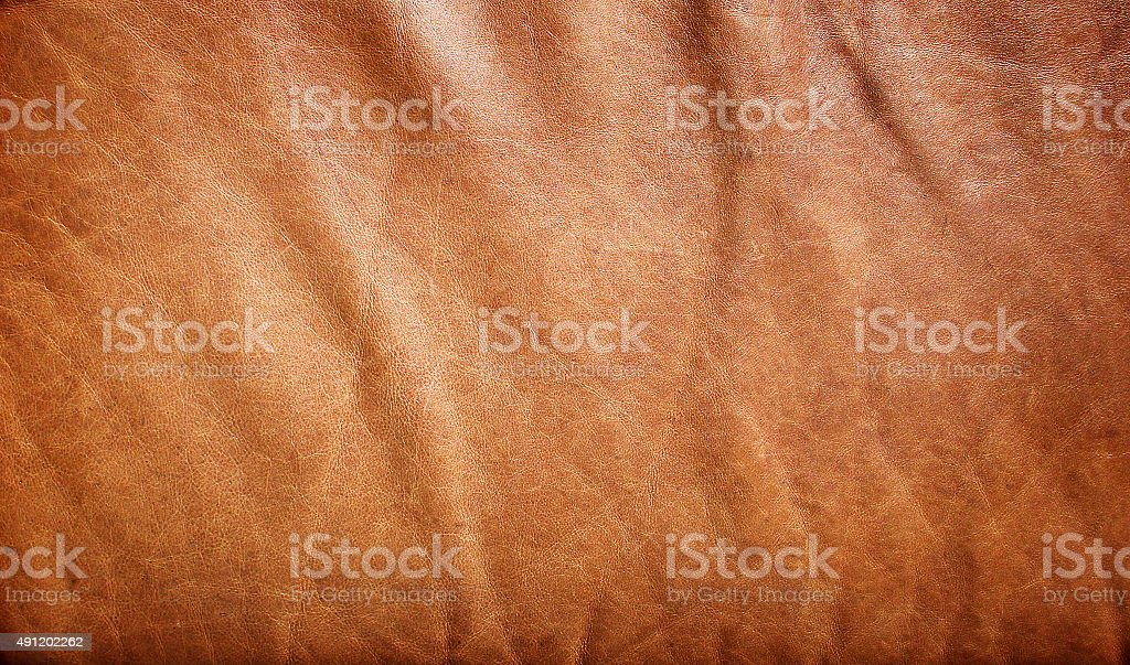 natural brown leather texture stock photo