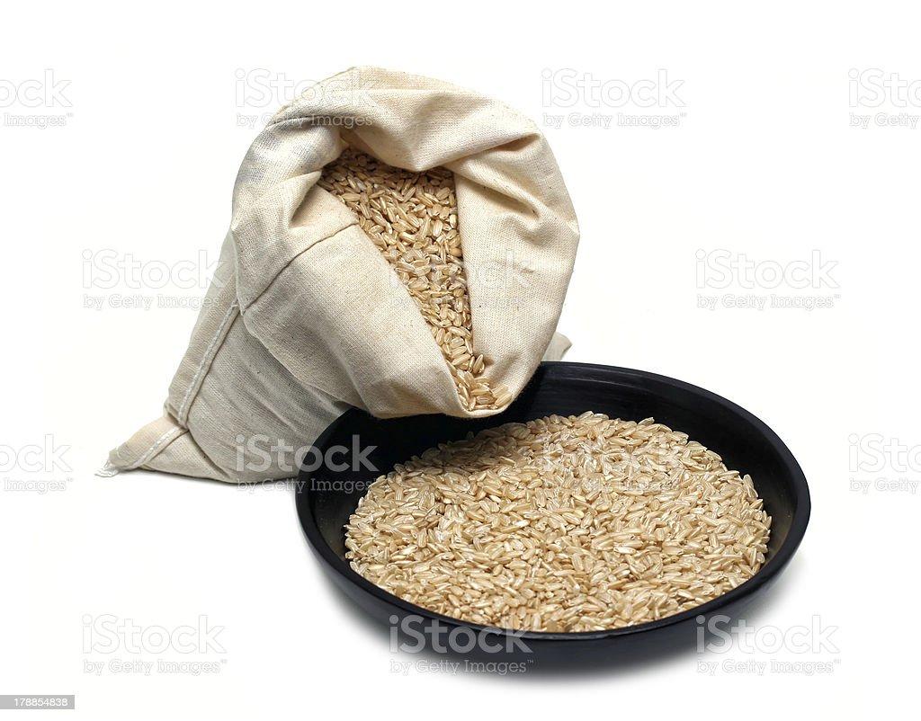 Natural brown rice royalty-free stock photo