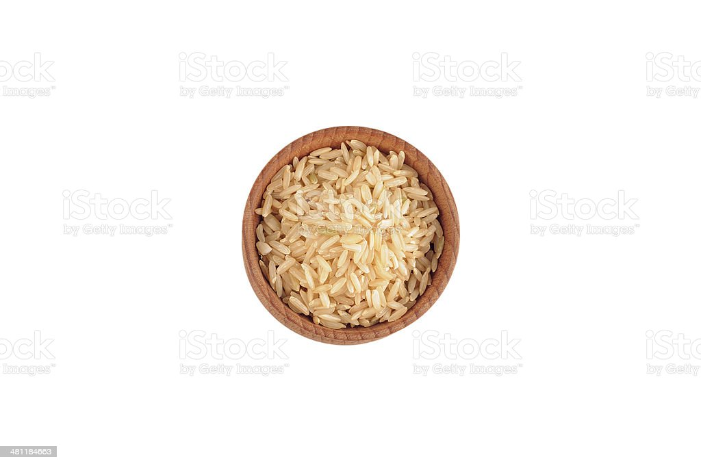 Natural brown rice stock photo