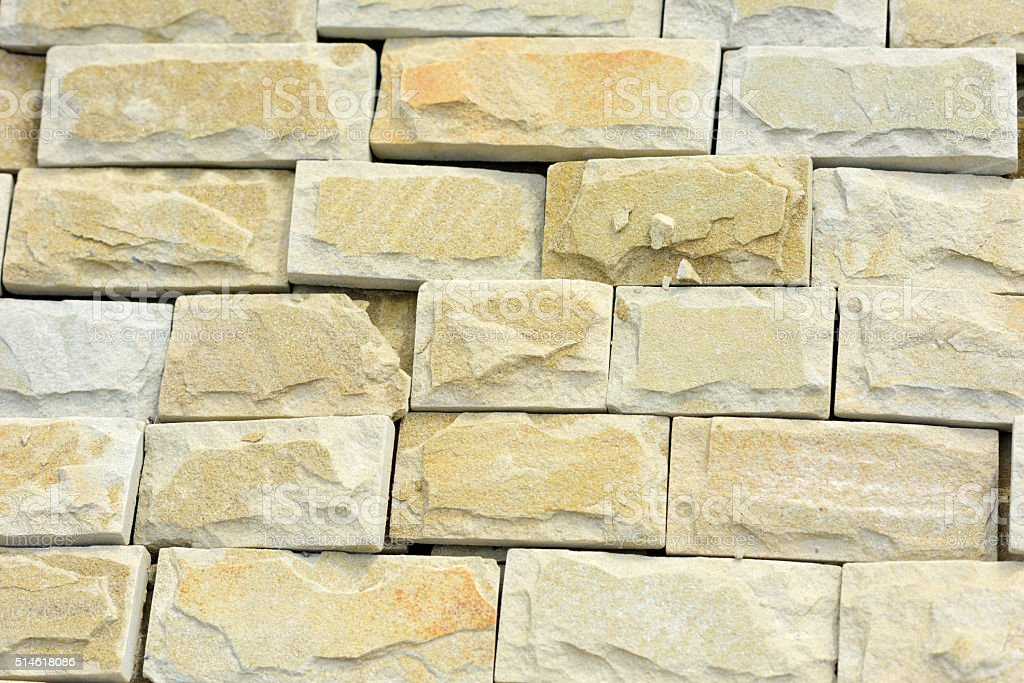 Natural building stone cladding stock photo