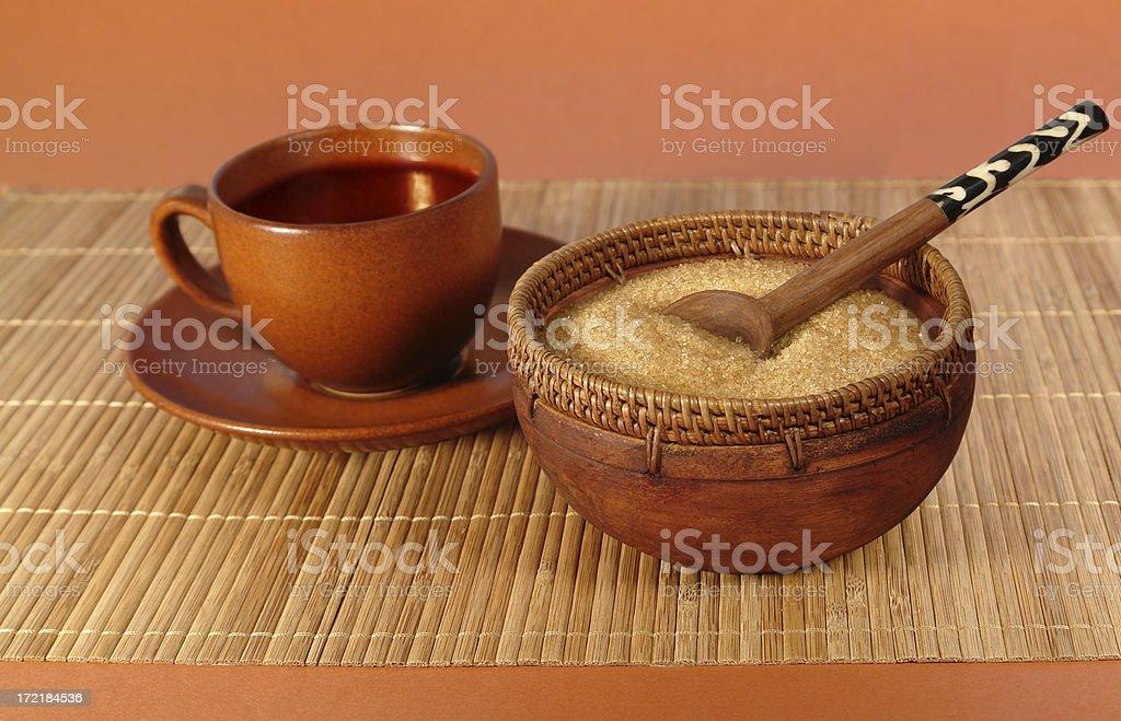 Natural Cane Sugar and Tea Set royalty-free stock photo