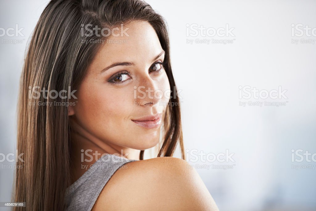 Natural charm and good-looks royalty-free stock photo