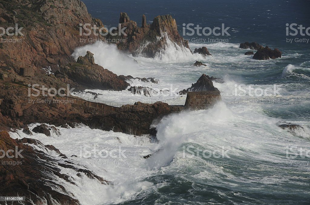 Natural coast, Jersey. royalty-free stock photo