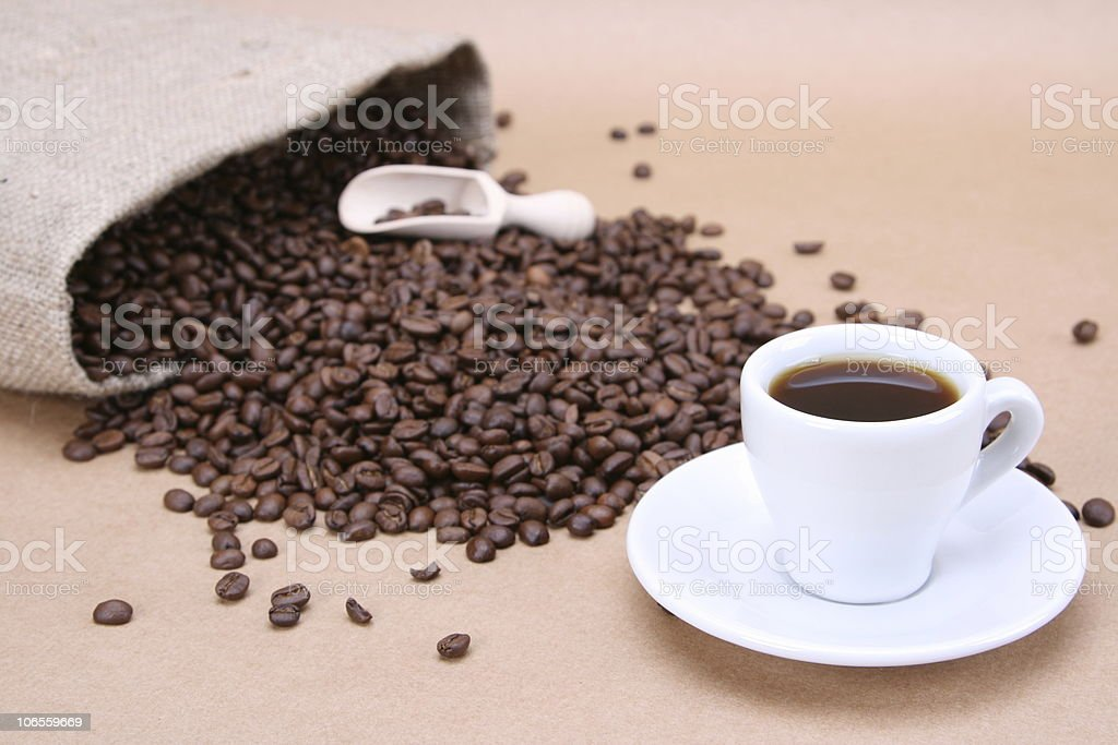 Natural Coffee royalty-free stock photo
