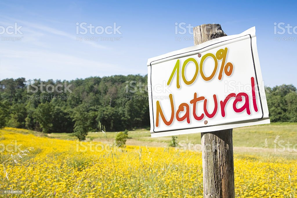 100% Natural concept image with copy space stock photo