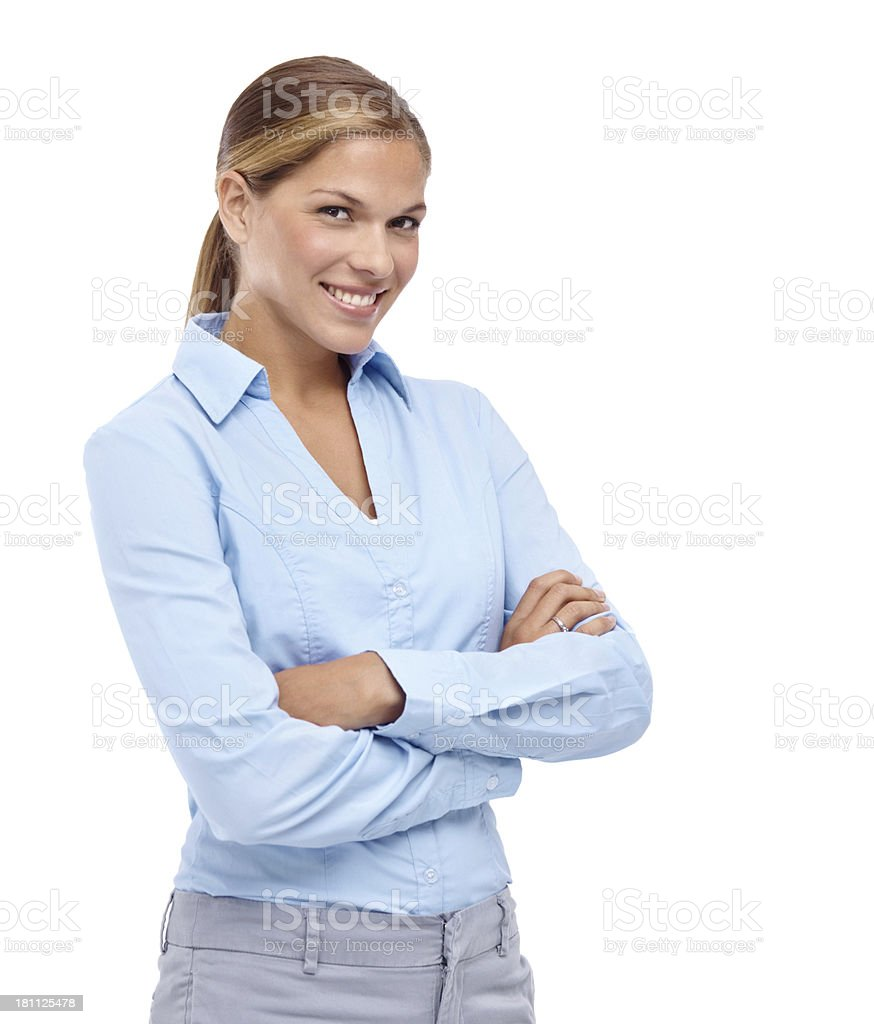 Natural confidence royalty-free stock photo