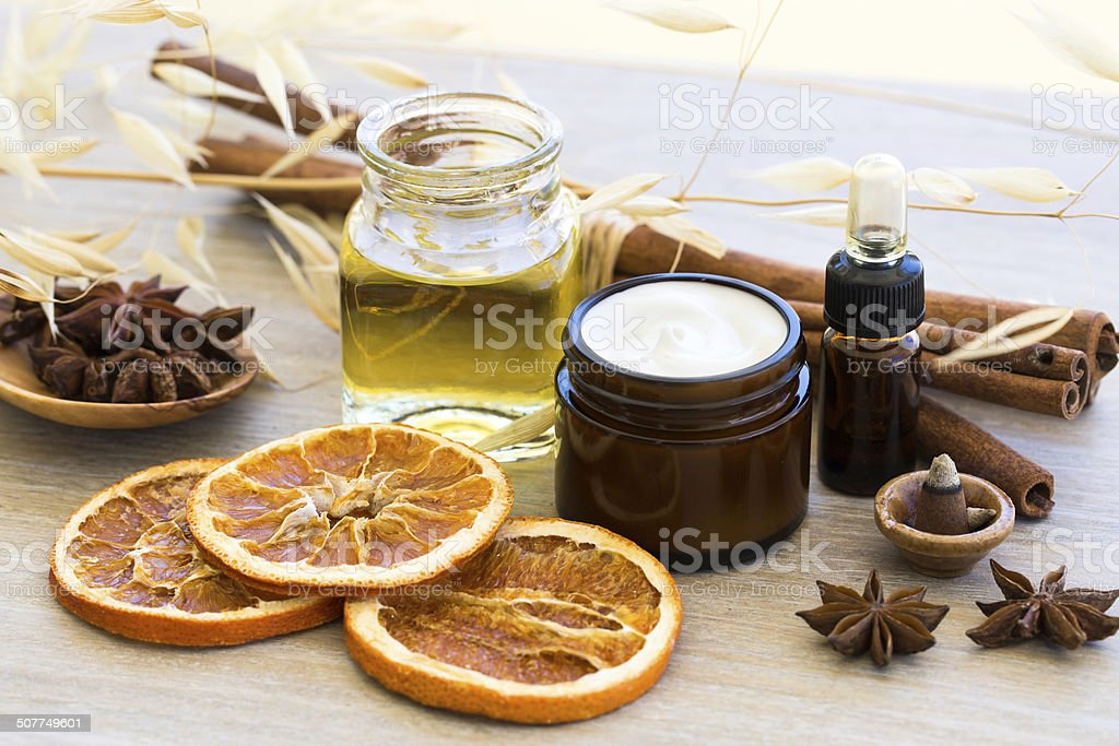 Natural cosmetic stock photo