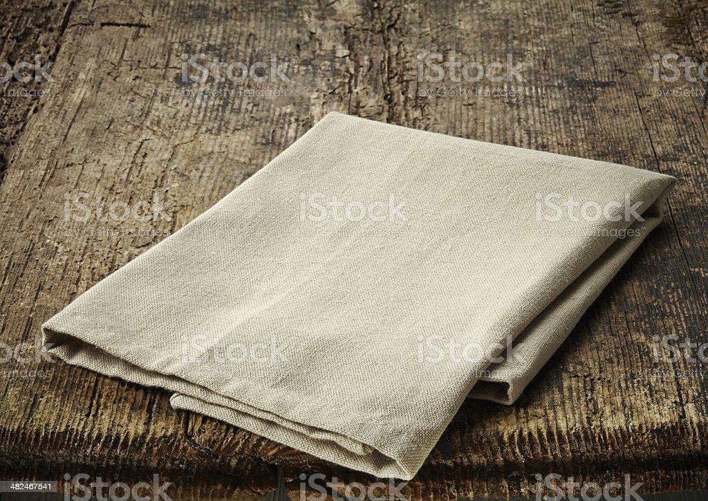 natural cotton napkin stock photo